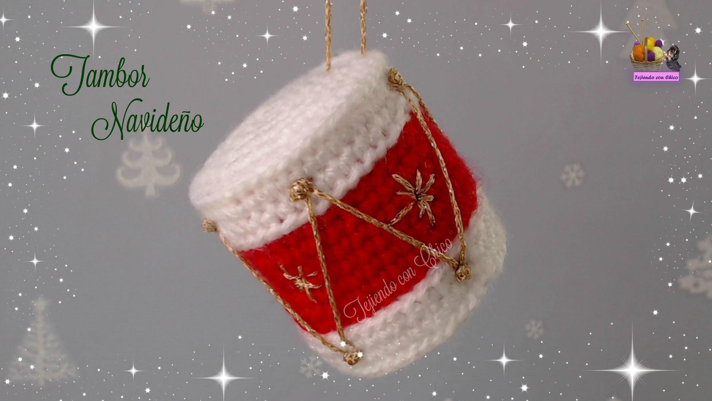 Tambor de crochet para adornar en Navidad