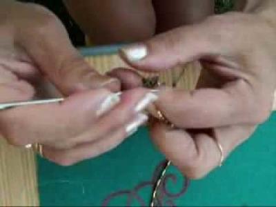 Collar y pulsera con ganchillo