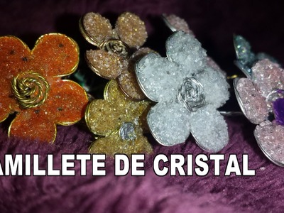 COMO HACER FLORES DE ALAMBRE, ESMALTE Y CRISTAL - FLOWERS CRYSTAL