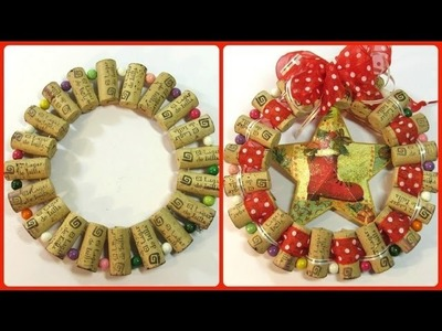 Cómo hacer un adorno o base con corchos. how to make a Christmas ornament with corks