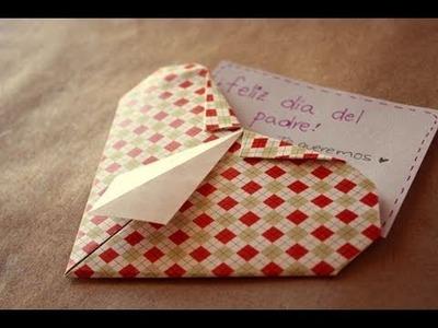Corazon camisa. origami - Dia del padre