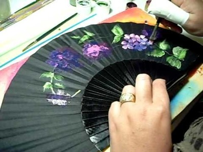 How to paint a fan, como pintar un abanico