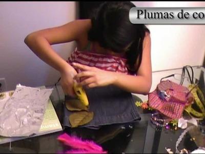 """Ideas para reciclar pantalones """"Bolso para niñas"""""""