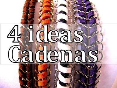 Manualidades DIY - 4 Ideas para crear con Cadenas