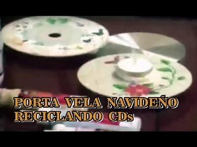 MANUALIDADES NAVIDEÑAS PORTAVELAS RECICLANDO CDS