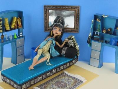 Manualidades para muñecas: Haz una cama para la Muñeca de Monster High Cleo