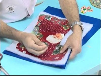 Manualidades Van Gogh - Bota navideña patchwork