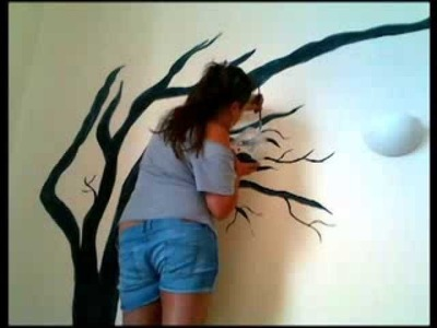 Painting a windy tree.Pintando un arbol!