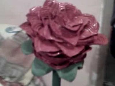 Rosa con corcholatas reciclables stars roses tehuacan