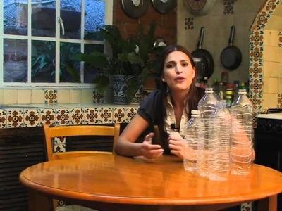 Separa y recicla las botellas desechables de plastico
