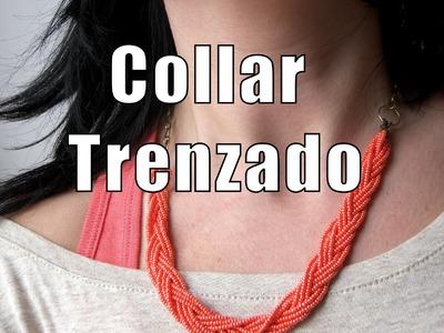 Abalorios DIY - Collar trenzado con rocalla