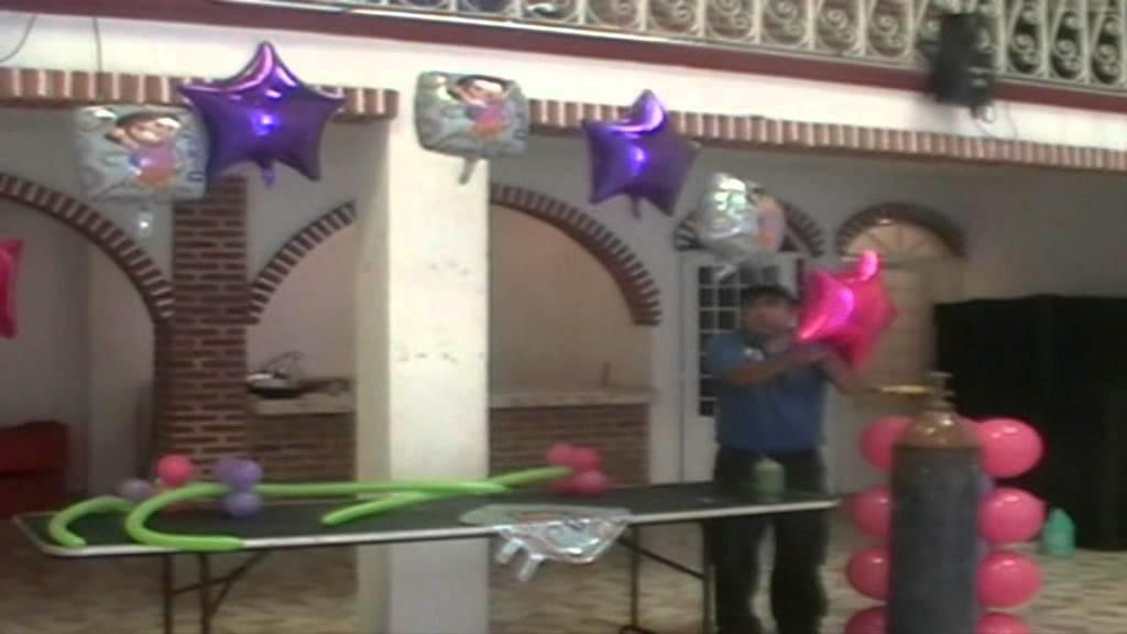 Arco de dora decoracion con globos