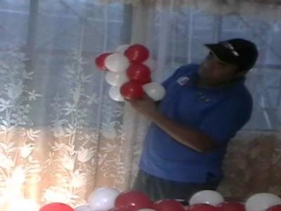 Baston navideño con globos