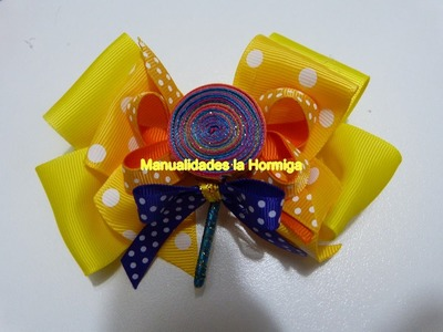 Clips en cinta para el cabello , decora moños lazos.  DIY How to decorate a hair clip