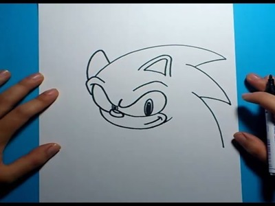 Como dibujar a Sonic paso a paso - Sonic | How to draw Sonic - Sonic