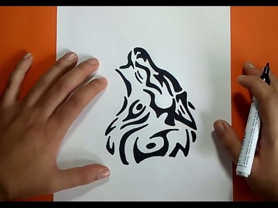 Como dibujar un lobo tribal paso a paso | How to draw a tribal wolf