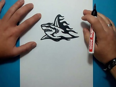 Como dibujar un tiburon paso a paso 7 | How to draw a shark 7