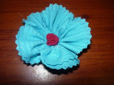 Como elaborar  flores  en tela para decorar accesorios.No.009.Manualidades la hormiga