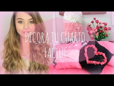 DIY: Lampara y Cojines decorativos - Ideas fáciles para decorar tu cuarto - Maqui015 ♥