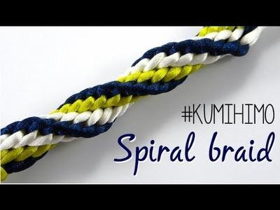 KUMIHIMO SPIRAL BRAID - TRENZADO EN ESPIRAL