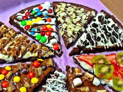 PIZZA DE BROWNIE (nutella & chocolate blanco)