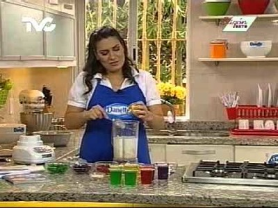 Receta para preparar Gelatina de Mosaico