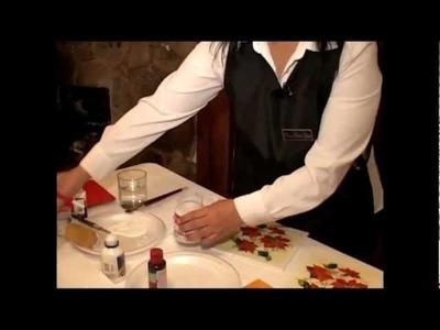 Técnica de servilleta con craquelador de 2 pasos