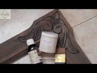 Trucos para pintar un marco con pintura chalky efecto decapado