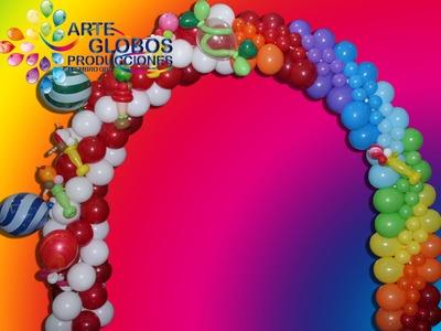Arcos con Globos Parte II La Guirnalda Curso de Globos Balloons