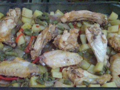 Comidas faciles. Pollo con papas diferente. Como no se me ocurrio!