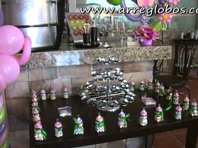 Decoración con Globos para Baby Shower www.arreglobos.com