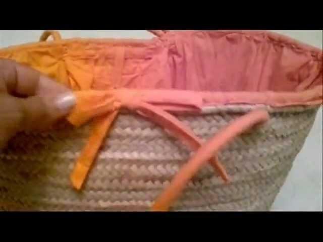DIY: Como forrar una capaza de playa.