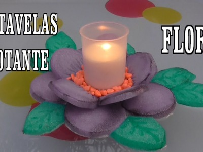 DIY FLOR PORTAVELAS FLOTANTE - FLOWER FLOATING CANDLE HOLDER