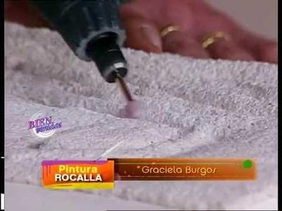 Graciela Burgos - Bienvenidas TV - Realiza un Tallado de Pintura Rocalla en un Rostro