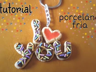 Llavero porcelana fría♥especial para san valentin