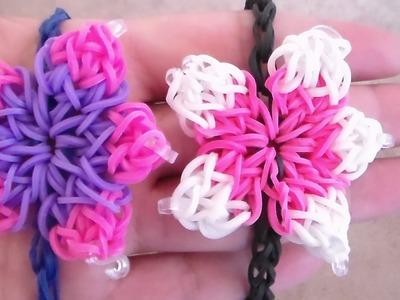 PULSERA ELASTICA EN FLOR DE HIBISCO. Flower Bracelet.Charm