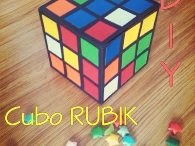 Caja de Regalo en forma de CUBO RUBIK -Rubik's cube-DIYComo hacer- How to