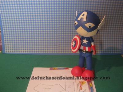 Capitan America En Foamy O Gomaeva Con Moldes Fofuchos Superheroes