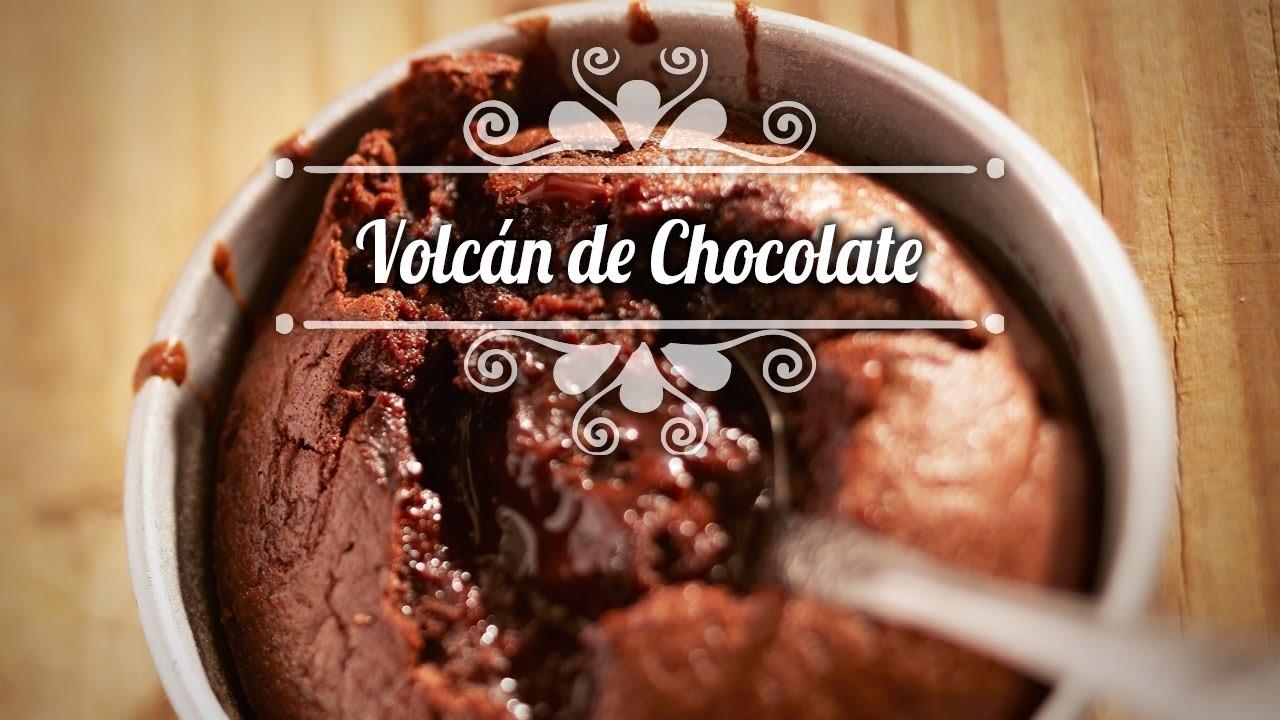 Chef Oropeza Receta: Volcán de Chocolate.Chocolate Volcano Recipe