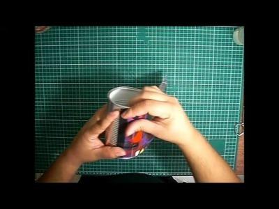 Como decorar latas de aluminio