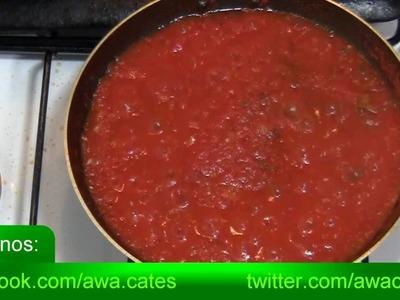 Como Hacer Salsa de Tomate para cualquier Pizza Casera. Recetas Faciles y rapidas de hacer