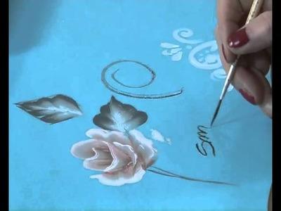 Como pintar una rosa - Pinceladas - Pintura Decorativa - Silvia Mongelos