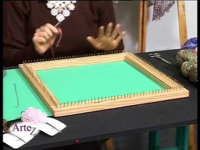 Cómo tejer hilados con telar