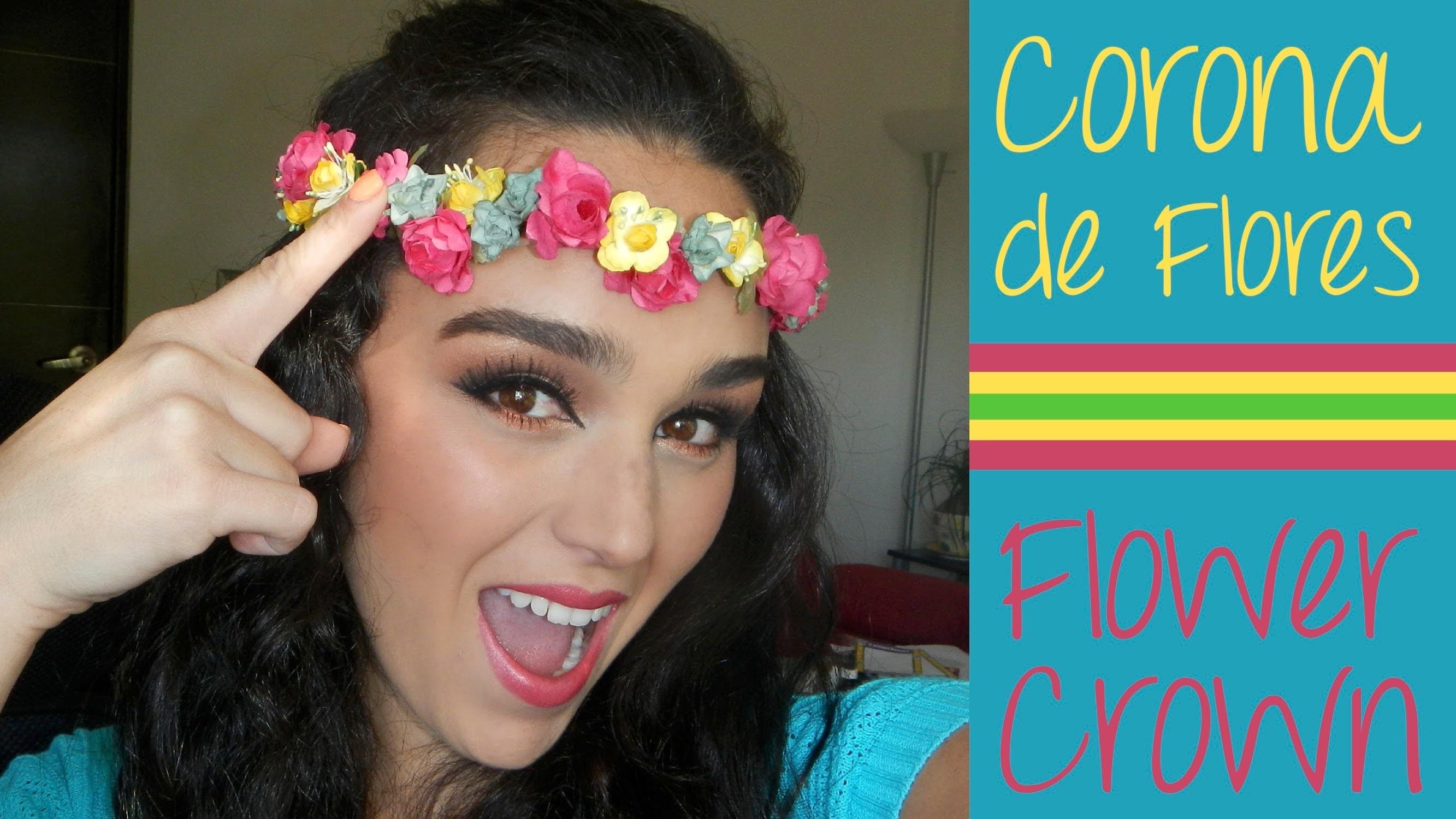 DIY - CORONA  DE FLORES - FLOWER CROWN - MONICA MAKACO