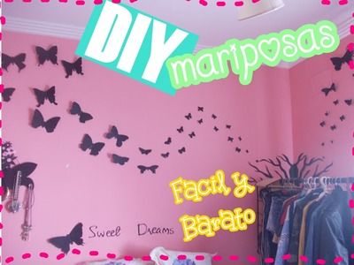 DIY: Decora tu habitacion con CARTULINA! (FACIL) || MatyLLerena ♥MissMDeliiciious ♥