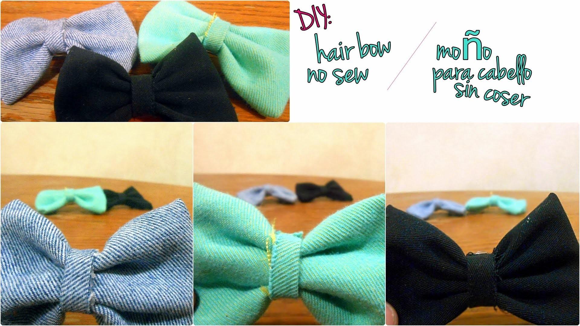 DIY: Hair bow *no sew*. Moño para cabello *sin coser*