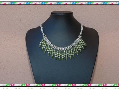 DIY Manualidades bisuteria - collares - collar egipcio jade verde