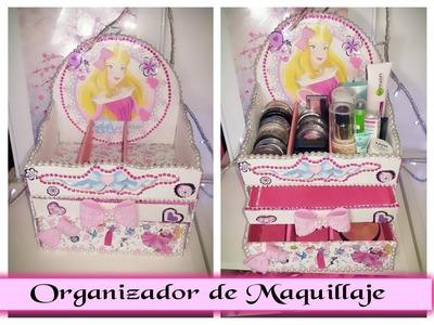 DIY ORGANIZADOR DE MAQUILLAJE CON CARTON RECICLADO