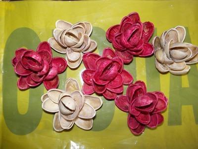 Flores con cascara de pistache