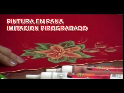IMITACION PIROGRABADO EN PANA NAVIDEÑO